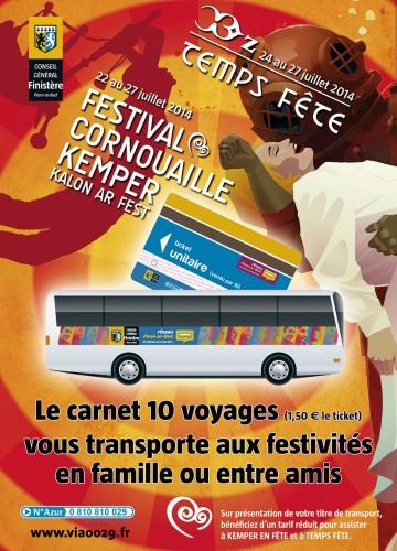 Affiche Transports aux festivals