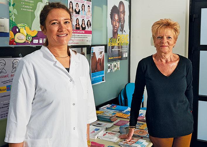 Fanny Le Fur, médecin et Marie-Claude Korfer, infirmière, conseillère familiale