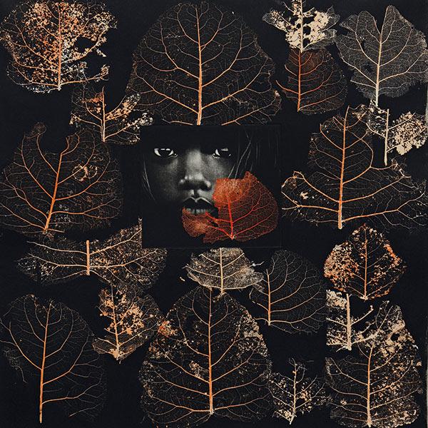 Ménier Nadia, dit Nadejda (Carnac, 1940) • Automne 2014 Manière noire H. 50; L. 50 cm