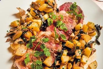 Recette : Panaché bœuf et rognons et pommes de terre forestières
