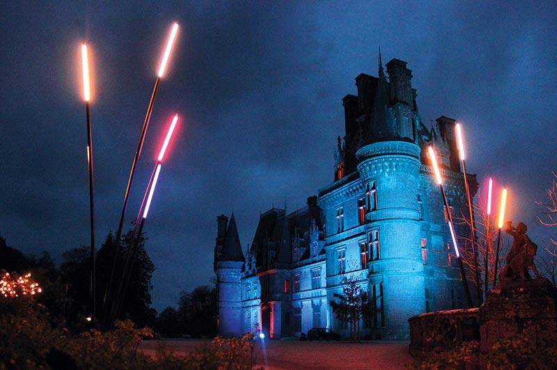 Ilumination du chateau de Trevarez